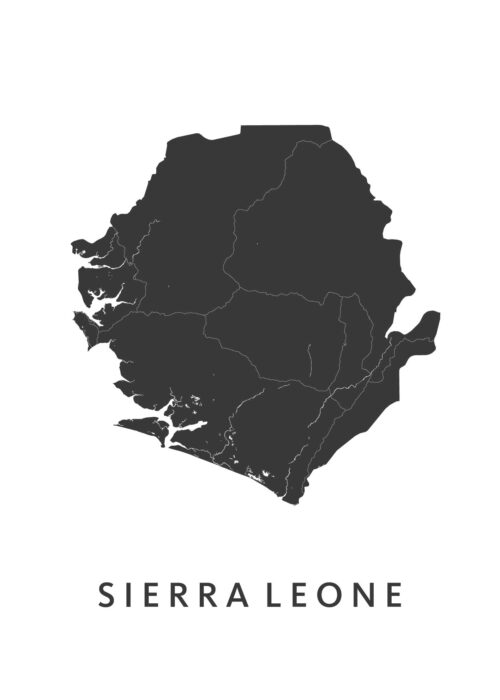 Sierra Leona Landkaart