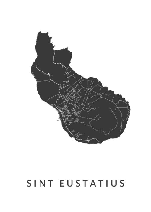 Sint Eustatius White City Map