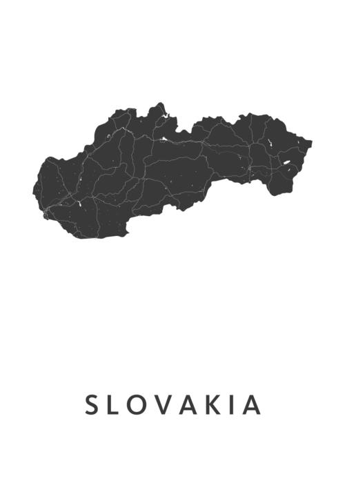 Slovakia Country Map