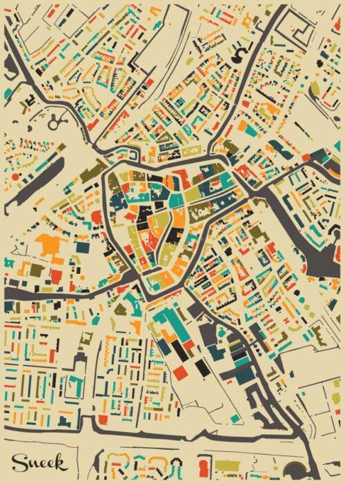 Sneek Autumn Mosaic Map