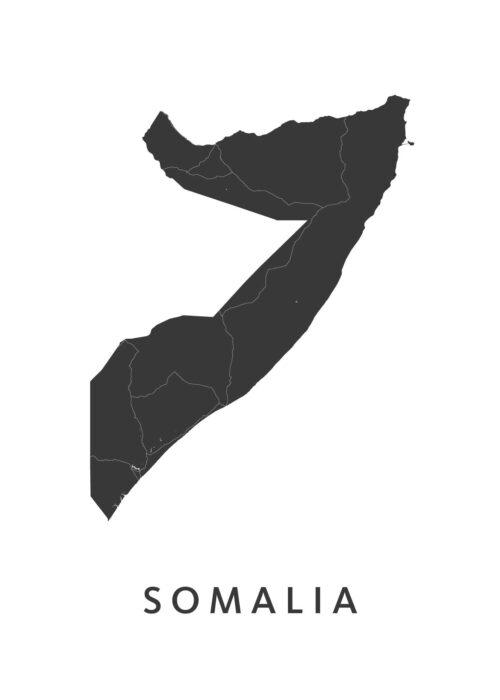 Somalia Landkaart