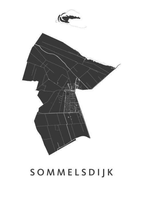 Sommelsdijk Stadskaart poster | Kunst in Kaart