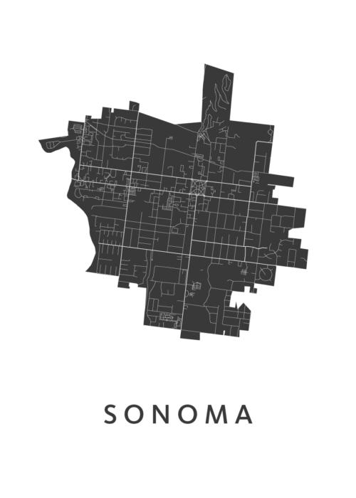 Sonoma White City Map