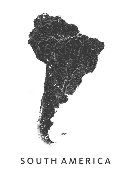 South America Modern Map