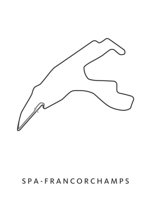 spa francorchamps poster