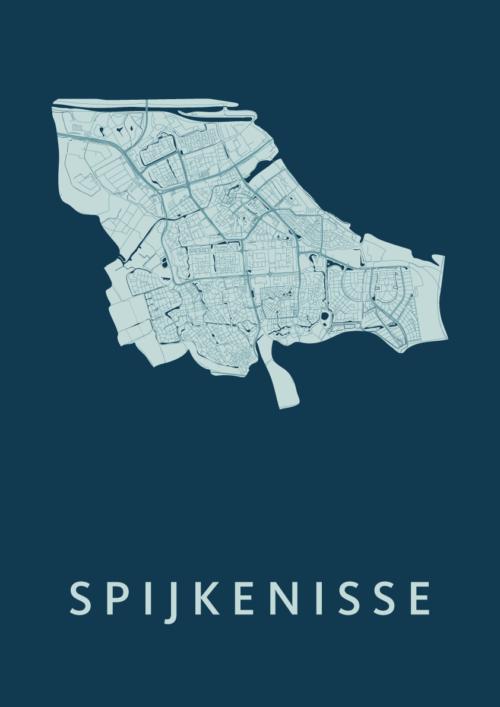 Spijkenisse Feldgrau Stadskaart Poster | Kunst in Kaart