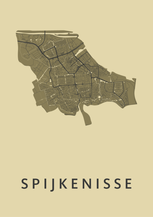 Spijkenisse GoldenRod Stadskaart Poster | Kunst in Kaart
