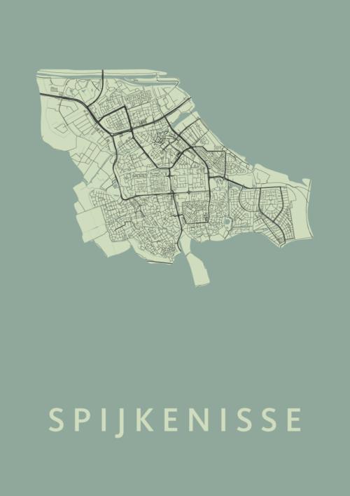 Spijkenisse Olive Stadskaart Poster | Kunst in Kaart