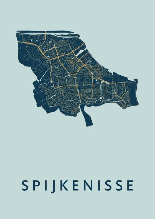 Spijkenisse Prussian Stadskaart Poster | Kunst in Kaart
