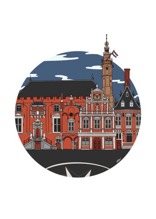 Stadhuis Haarlem Poster