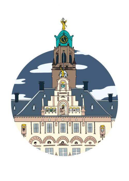 Stadhuis Rotterdam - Poster