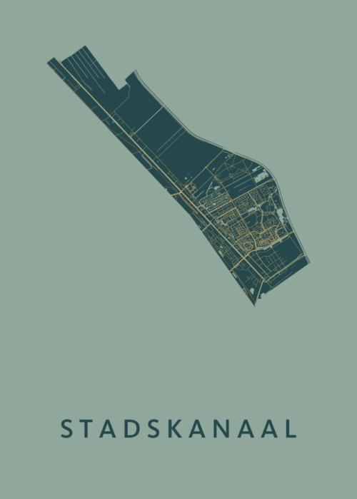 Stadskanaal Amazon Stadskaart Poster | Kunst in Kaart