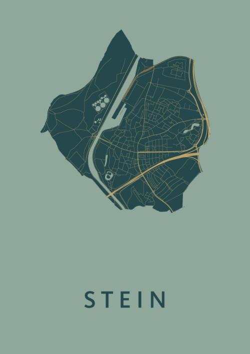 Stein Amazon Stadskaart Poster | Kunst in Kaart