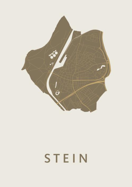 Stein Gold Stadskaart Poster | Kunst in Kaart