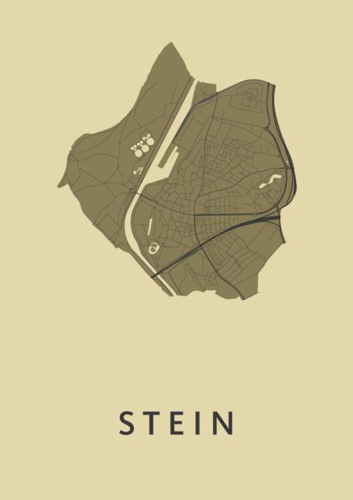 Stein GoldenRod Stadskaart Poster | Kunst in Kaart