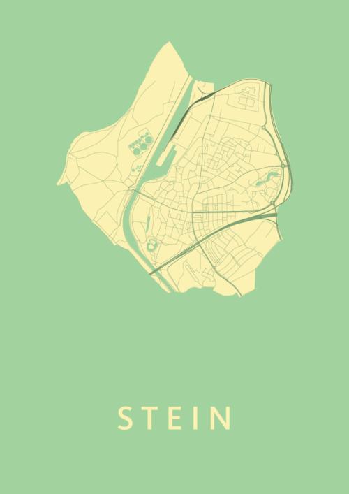 Stein Spring Stadskaart Poster | Kunst in Kaart