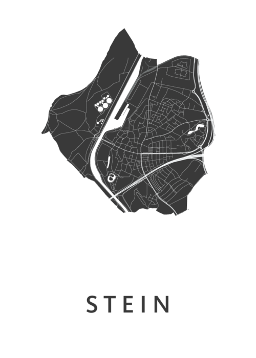 Stein White Stadskaart Poster | Kunst in Kaart