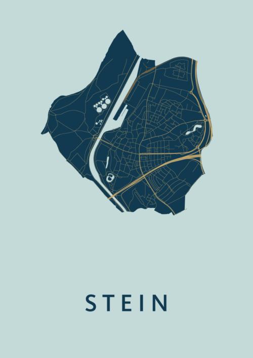 Stein Prussian Stadskaart Poster | Kunst in Kaart