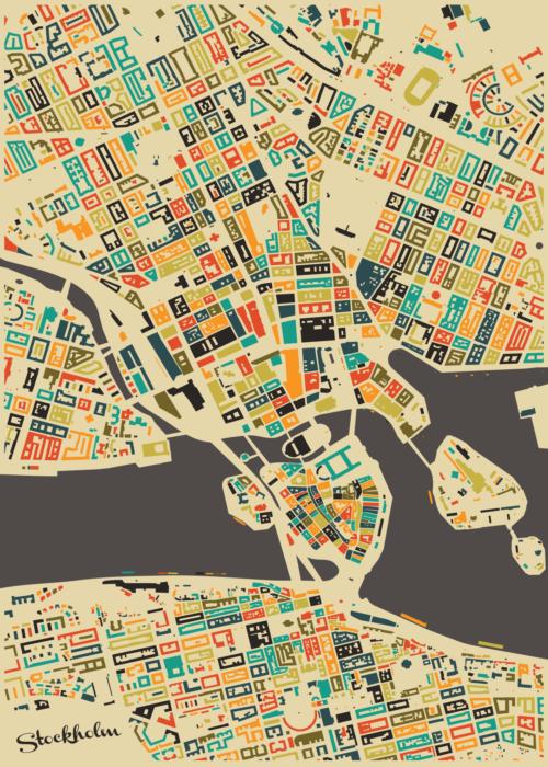 Stockholm Mosaic Map