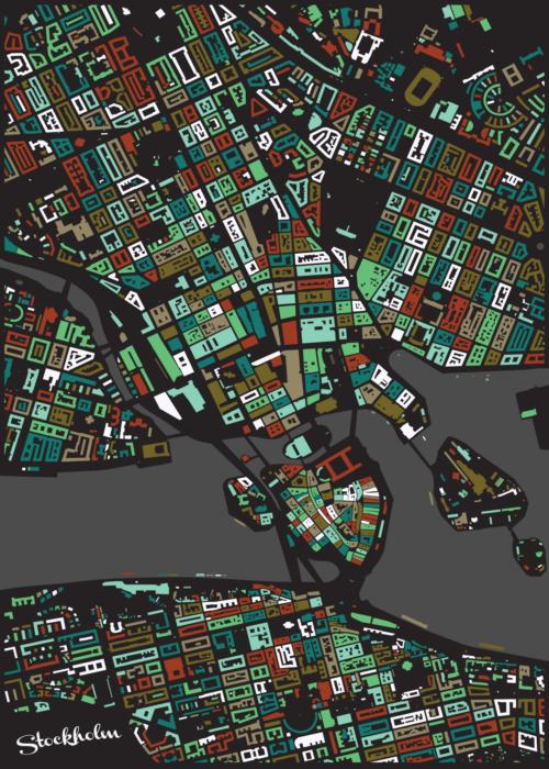 Stockholm Cherry Mosaic Map