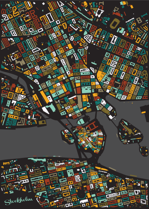 Stockholm Leaf Mosaic Map