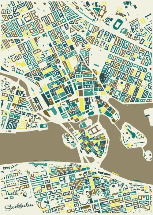 Stockholm Spring Mosaic Map