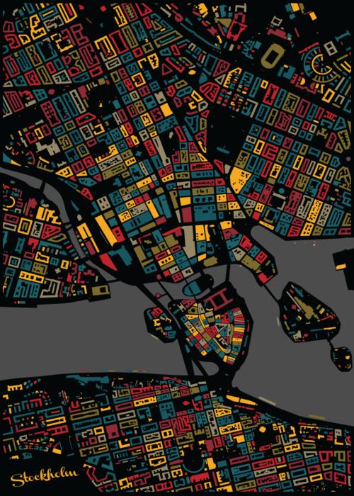 Stockholm Urban Mosaic Map