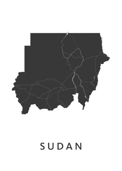 Sudan Landkaart