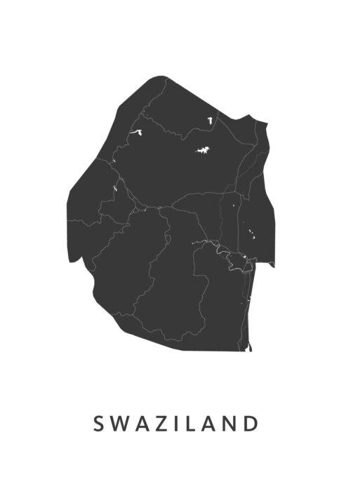 Swaziland Landkaart