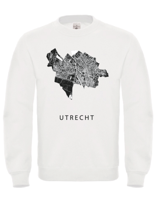 Sweater wit stadskaart