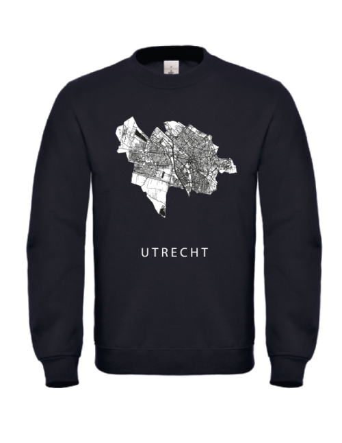 Sweater zwart stadskaart