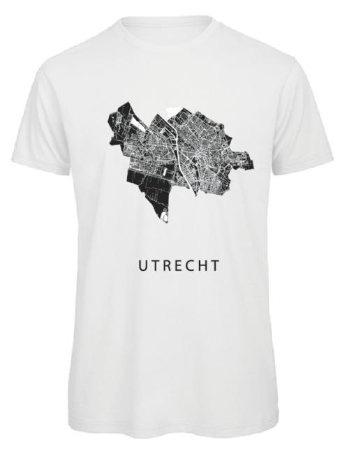 T-shirt wit stadskaart