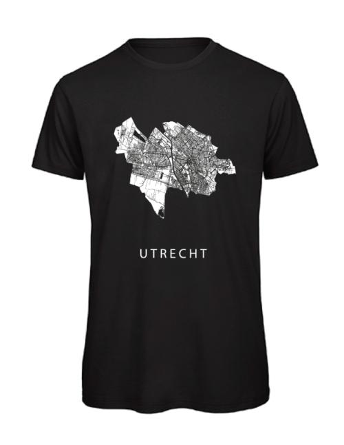 T-shirt zwart stadskaart