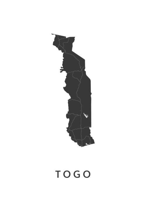 Togo Landkaart