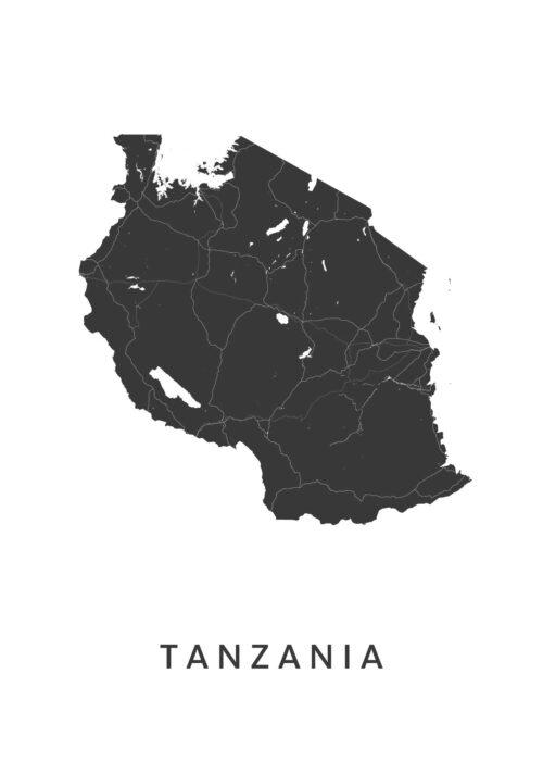 Tanzania Landkaart