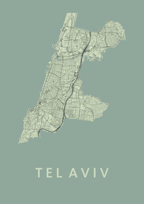 Tel Aviv Olive City Map
