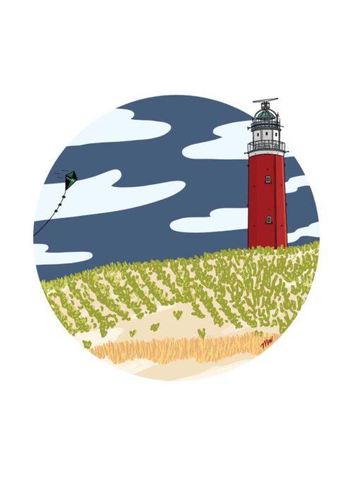 Vuurtoren - Texel Poster