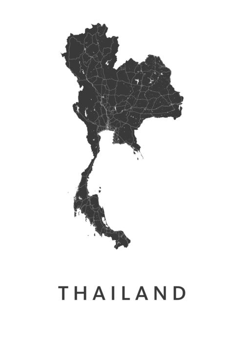 Thailand Landkaart