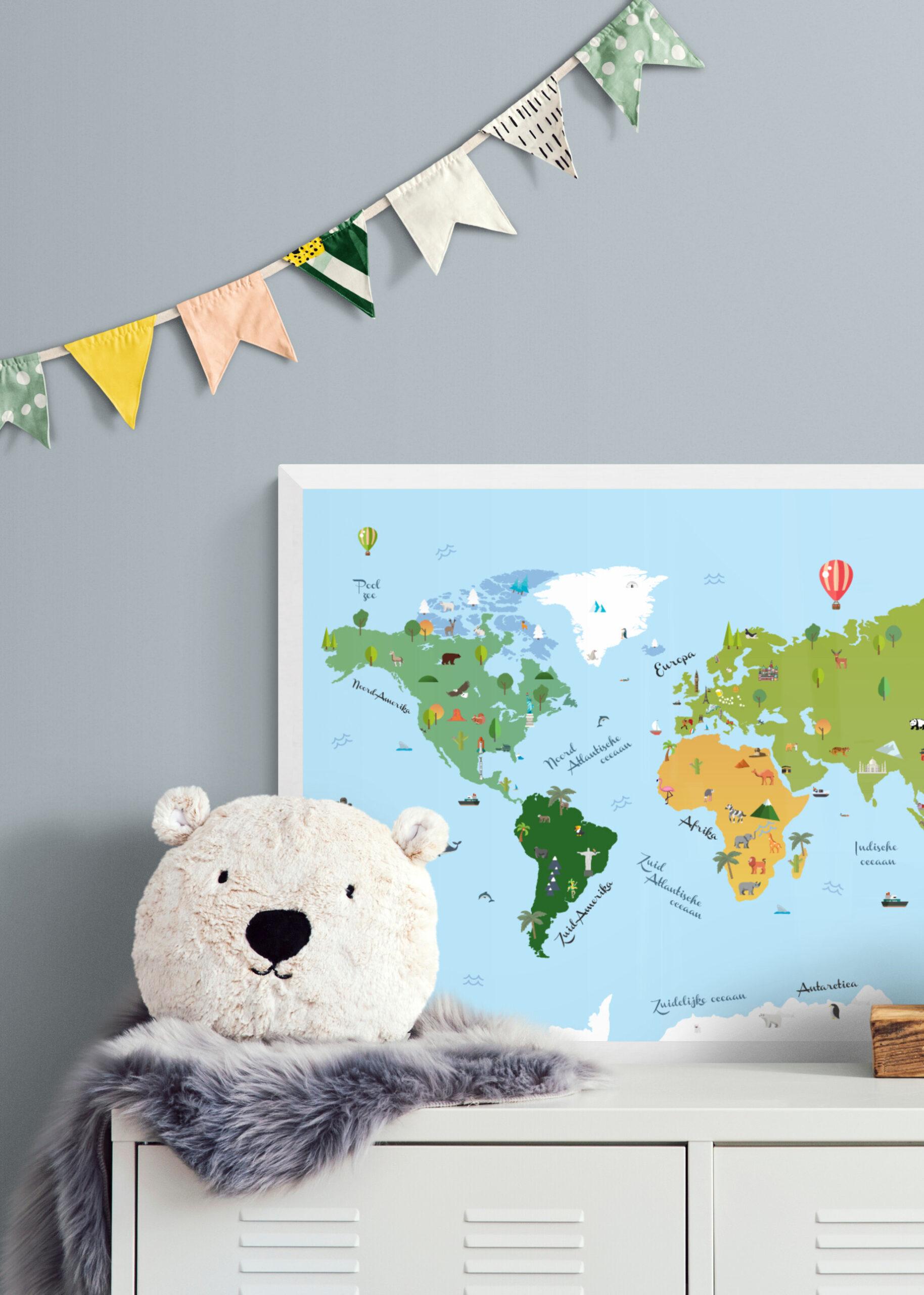 Wereldkaart - kinderen