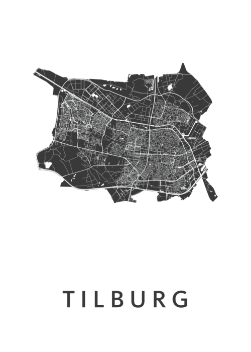 Tilburg Stadskaart poster