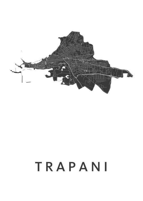 Trapani White City Map