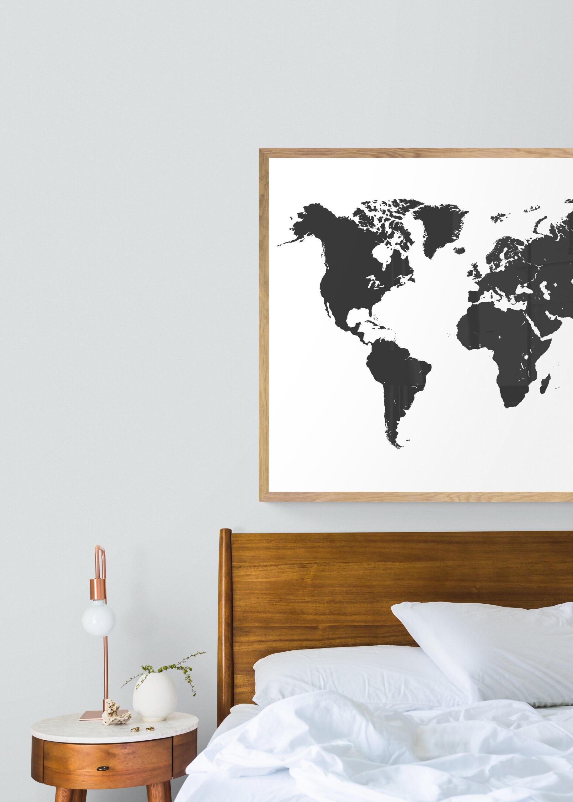 Wereldkaart posters