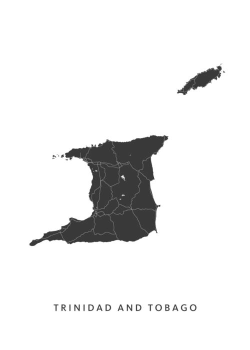Trinidad en Tobago Country Map
