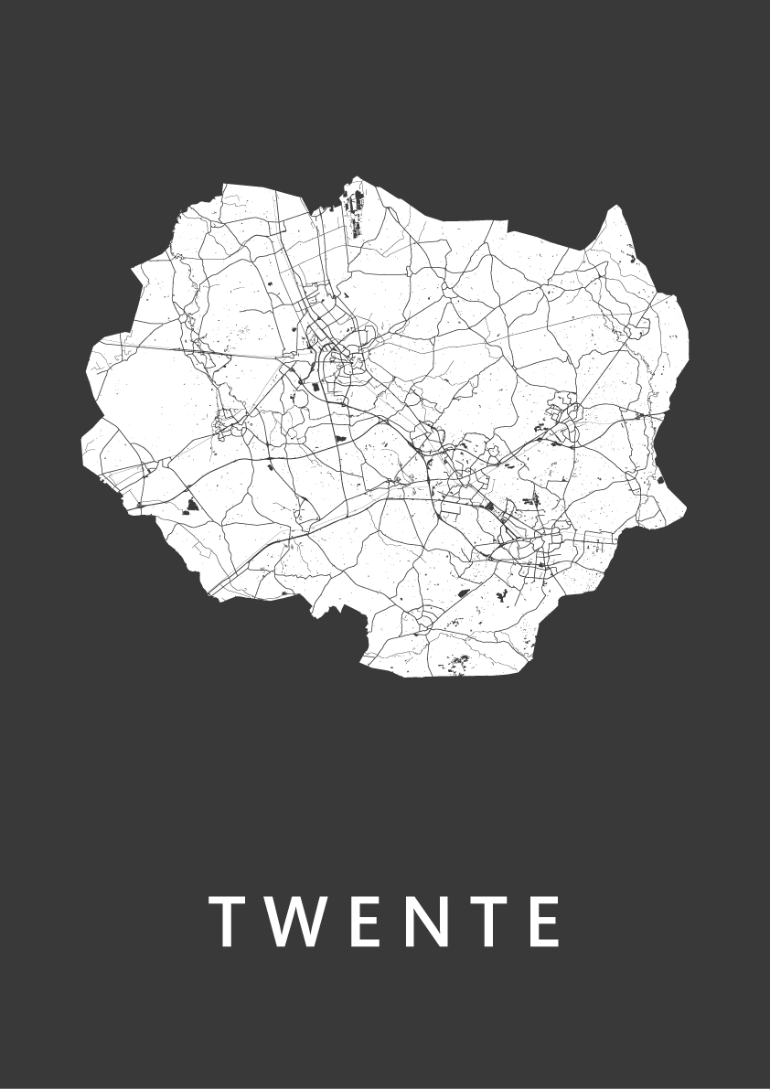 Twente Black Map