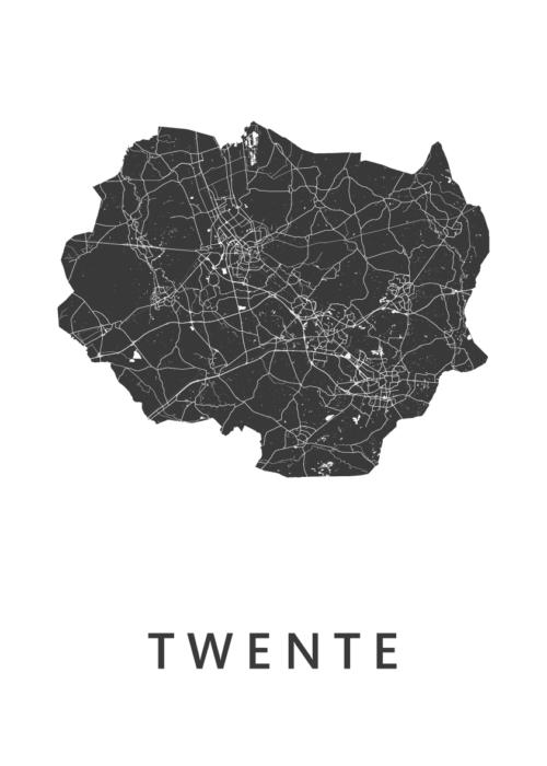 Twente White Map