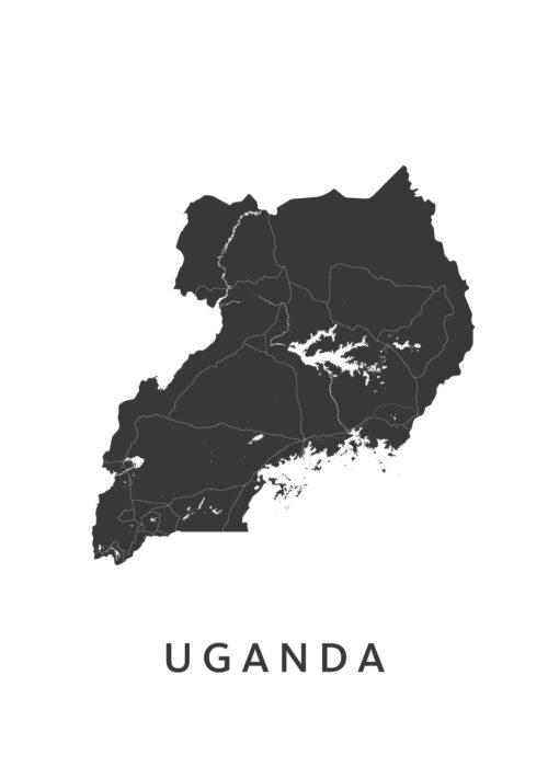 Uganda Landkaart