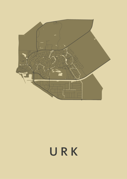 Urk GoldenRod Stadskaart Poster | Kunst in Kaart