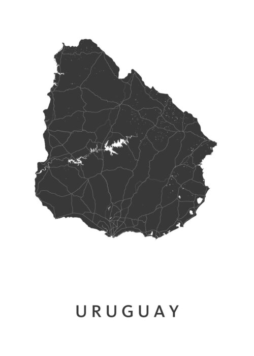 Uruguay Landkaart