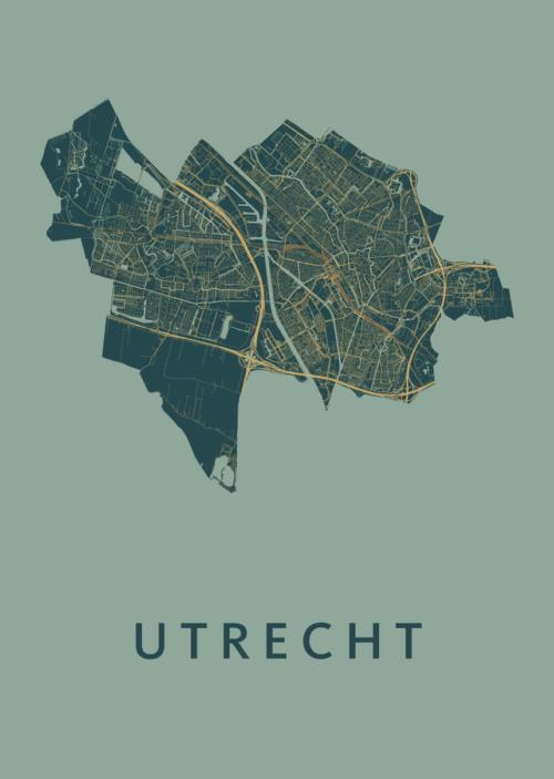 Utrecht Stadskaart poster - Amazon