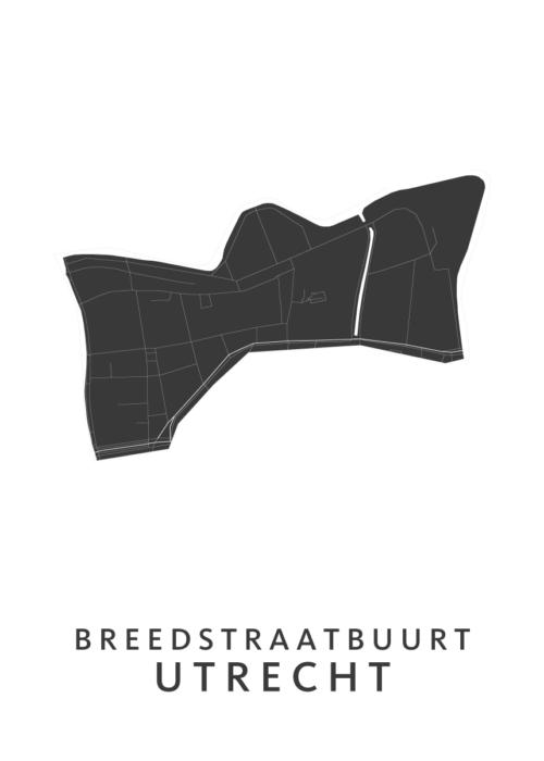 Utrecht - Breedstraatbuurt White Wijk Map